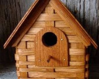 Amish Hand Crafted Woven Bird House With Wooden Roof