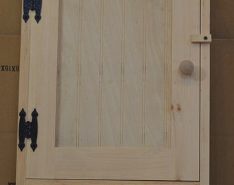 Bathroom, Hallway, Bedroom, or Kitchen Cupboard with 3 Hooks to Hang Towels, or Country Decor Solid Wood Construction