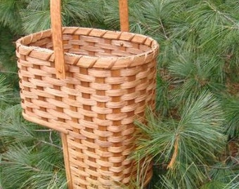 "Small 7"" Amish Made Stair Step Basket"