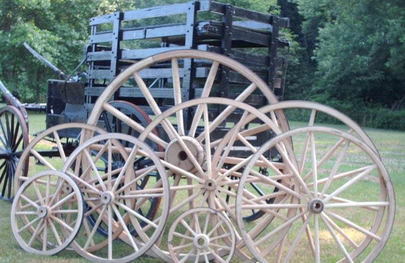 24 Inch X 2 Inch Steam Bent Hickory Wagon Wheel