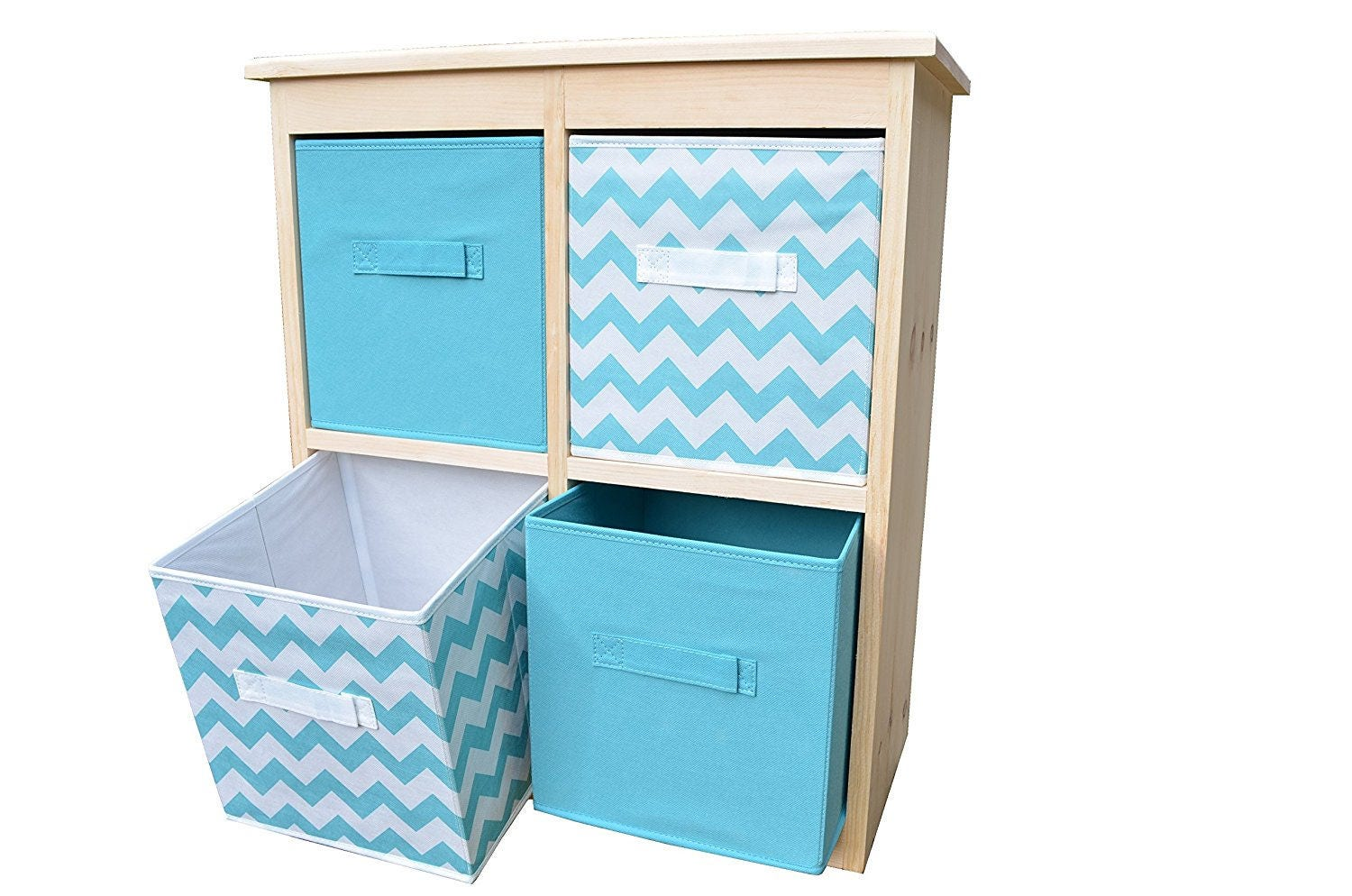 unfinished solid pine wood 4 hole cube storage organization etsy. Black Bedroom Furniture Sets. Home Design Ideas