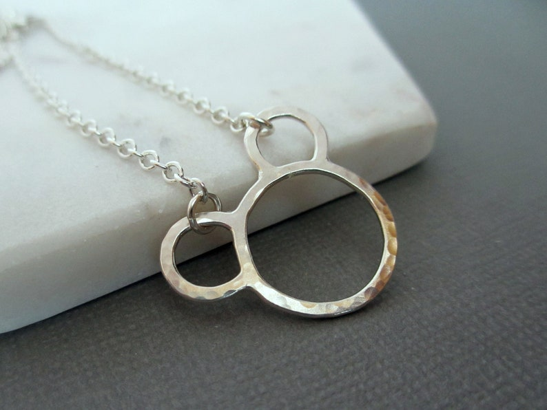 Mouse Ears Charm Necklace  Sterling Silver  Mouse Ears image 0