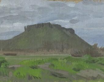 Original Oil Painting: Table Rocks Early Spring, Plein Air