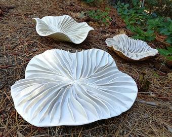 Fine Porcelain Handmade sculptural bowl. Large Fungi bowl, White sculpture. Round table centerpiece, coffee table décor Fine art Chelsea Mae