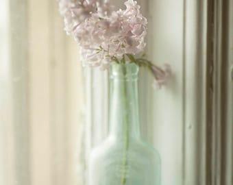 flowers lilacs old glass fine art photography nature home decor nursery decor