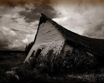 Rural decay photograph, home decor, Fine Art Photograph