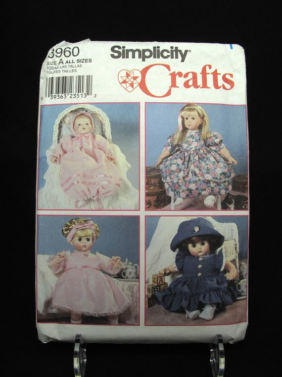 Simplicity Baby Doll Clothes Patterns Uncut Sewing Dolls Etsy