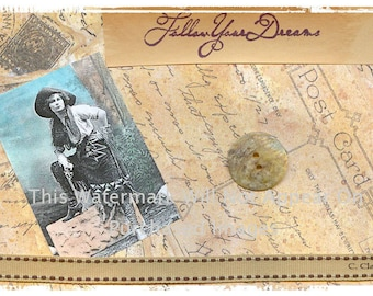 Vintage cowgirl cowboy boots instant digital download art vintage cowgirl follow your dreams instant digital download western art picture scrapbooking store tags t shirt transfer business cards reheart Image collections