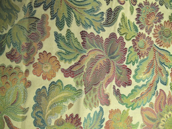 Vintage Floral Tapestry Fabric Upholstery Antique Floral Etsy