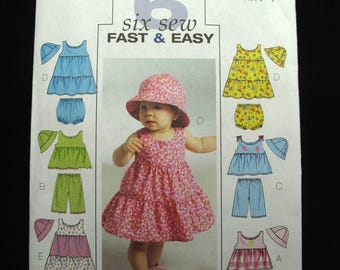 Butterick  Infant Baby Dress Panties Hat Pattern Uncut Sewing Sweet Summer One Size Very Easy
