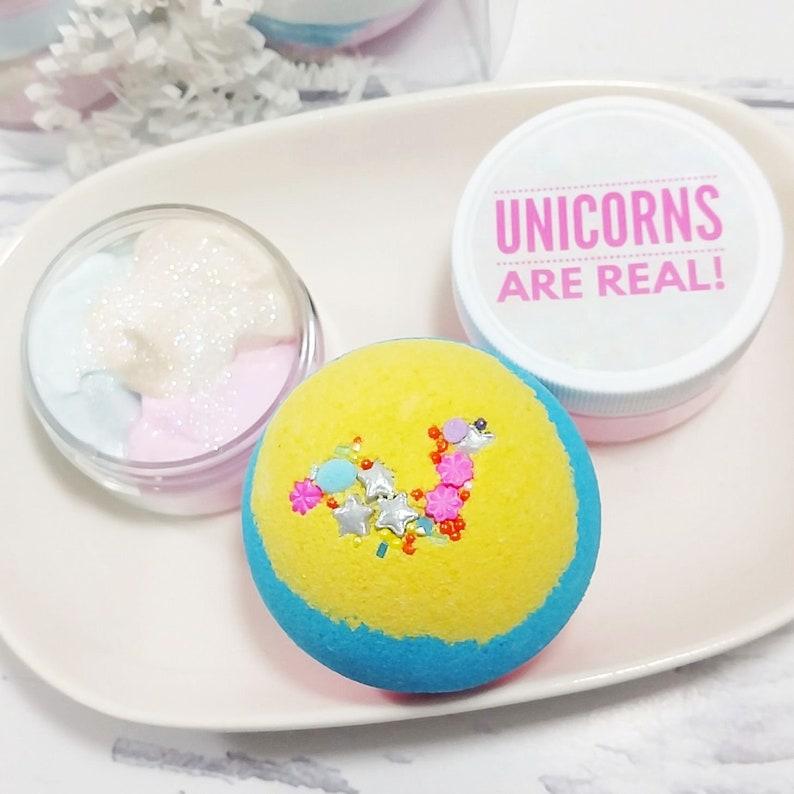 Unicorn birthday gift Unicorn Spa Gift Set Unicorn bath bomb Unicorn  birthday party ideas for girls birthday Sunbasilgarden Soap party favor