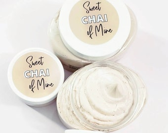 Sweet Chai of Mine Chai Body Scrub - Vanilla Chai Tea Sugar Scrub - Chai Body Polish - Tea Lover Gift - I Love Tea - Funny Gift for Women