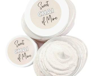 Sweet Vanilla Chai Body Lotion - Body Butter - Hand and Body Cream - Cozy Scent - Chai Tea, Cinnamon, Vanilla Brown Sugar-  Moisturizer