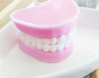 Funny Dad Gift, Dad, Denture Soap, Fathers Day Gift. Dentures. False Teeth, Over the Hill Gift, Funny Gifts, Gag Gift, Dentist gifts