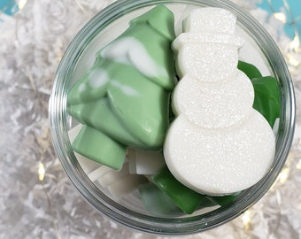 Merry Christmas Gift Set / Stocking Stuffers for Women and Men/ Christmas Soap / Stocking Filler / Small Christmas Gift / Snowman Soap