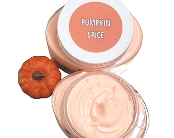 Pumpkin Spice Whipped Body Butter Lotion. Fall Pumpkin Spice.  Cream Hand Foot Natural Skincare. Whipped Natural Body Butter. Body Cream