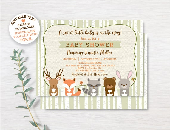 ideas woodlands baby shower invitation or 87 woodland baby shower invitations girl