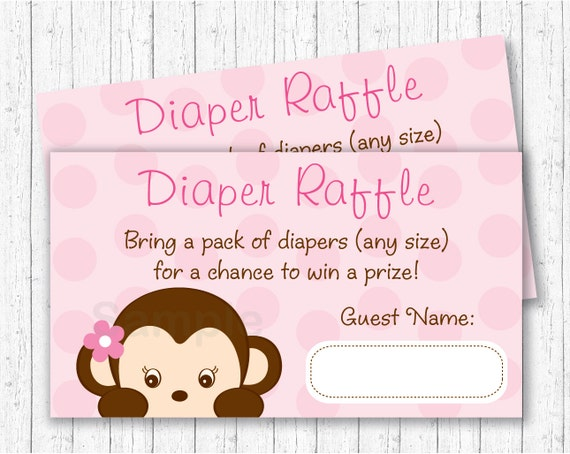 1 Personalised Baby Shower Party Games for 10 guestsFavour TagsMonkey