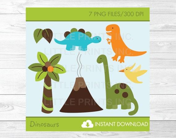 Dinosaur Clipart Dinosaur Baby Shower Dinosaur Birthday Etsy