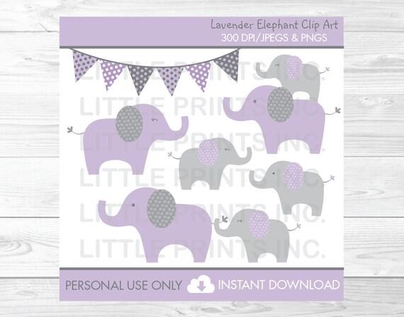 Elephant Clipart Purple Elephant Clipart Elephant Baby Shower