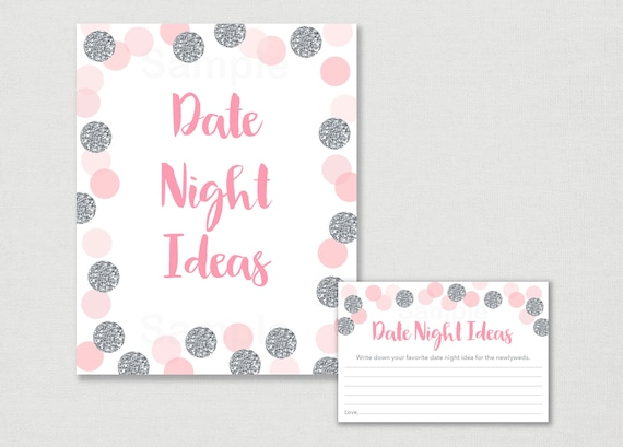 Blush Pink Silver Date Night Ideas Bridal Shower Date Etsy