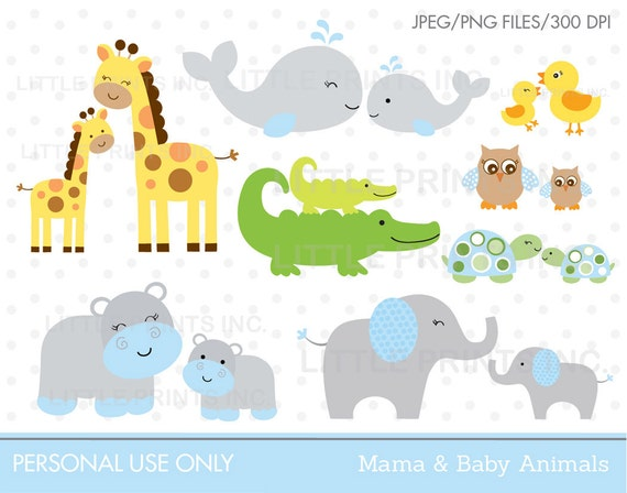 Jungle Animal Clipart Safari Animal Clipart Safari Baby Shower