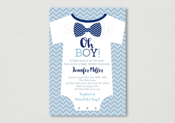 picture regarding Printable Onesie Baby Shower Invitations identify Bow Tie Kid Shower Invitation / Onesie Little one Shower Invite