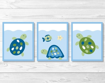 Turtle Reef Sea Turtle Nursery Wall Art PRINTABLE Instant Download A329