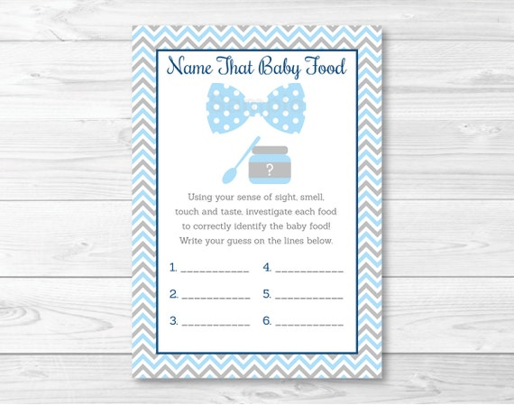 image relating to Guess the Baby Food Game Free Printable called Bow Tie Standing That Boy or girl Foodstuff Match / Chevron Bow Tie Little one