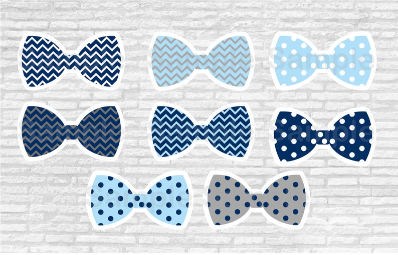 Bow Tie Cut Outs / Little Man Baby Shower / Chevron Bow Tie / image 0