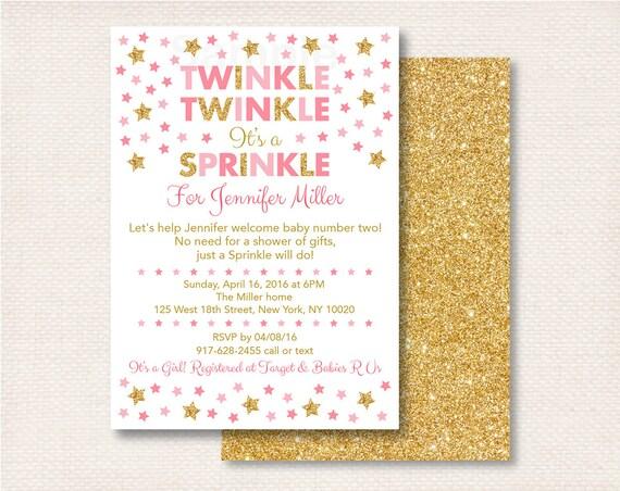 twinkle twinkle baby sprinkle invitation twinkle star baby