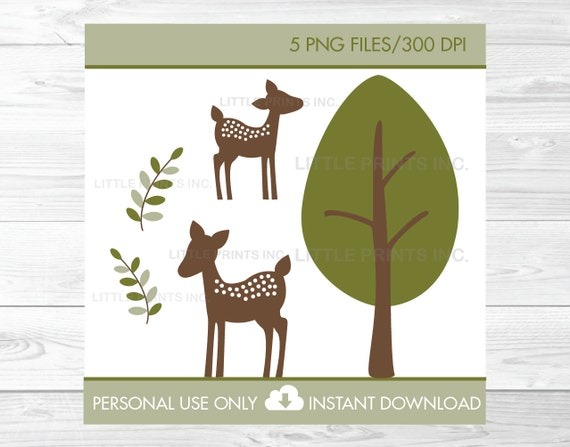 Cute Deer Clipart Deer Baby Shower Woodland Baby Shower Etsy