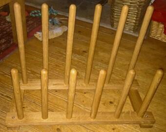 Oak Floor Welly Rack