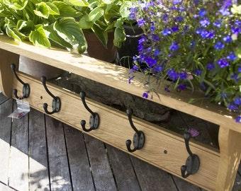 Oak 'Farmhouse' style Coat Shelves