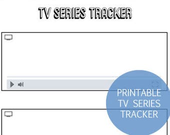 Printable TV Series Tracker, Printable TV Show List, Printable Netflix show list, TV Bullet Journal Insert, Tv Show Planner Insert