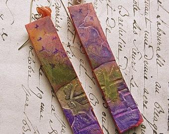 "Polymer Clay Handmade Earrings ""Hyacinth"""