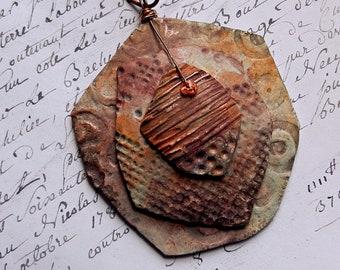 "Polymer Clay Handmade Pendant ""Sunset"""