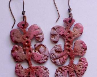 "Polymer Clay Handmade Earrings ""Jitterbug"""