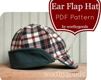 Newsboy Hat Pdf Pattern Boys Flat Cap 6 Months To Pre Teen