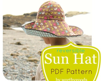 Sun Hat PDF Pattern - Womens Over the Top Sunhat DIY Sewing Project Pattern  - Floppy Hat Digital File Download 47f329d113c