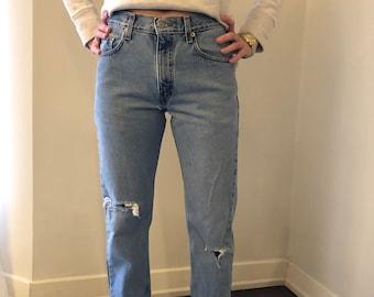 3c5ead9532e Vintage Levis 505 Jeans distressed destroyed 27.5 x 30. Size 4.