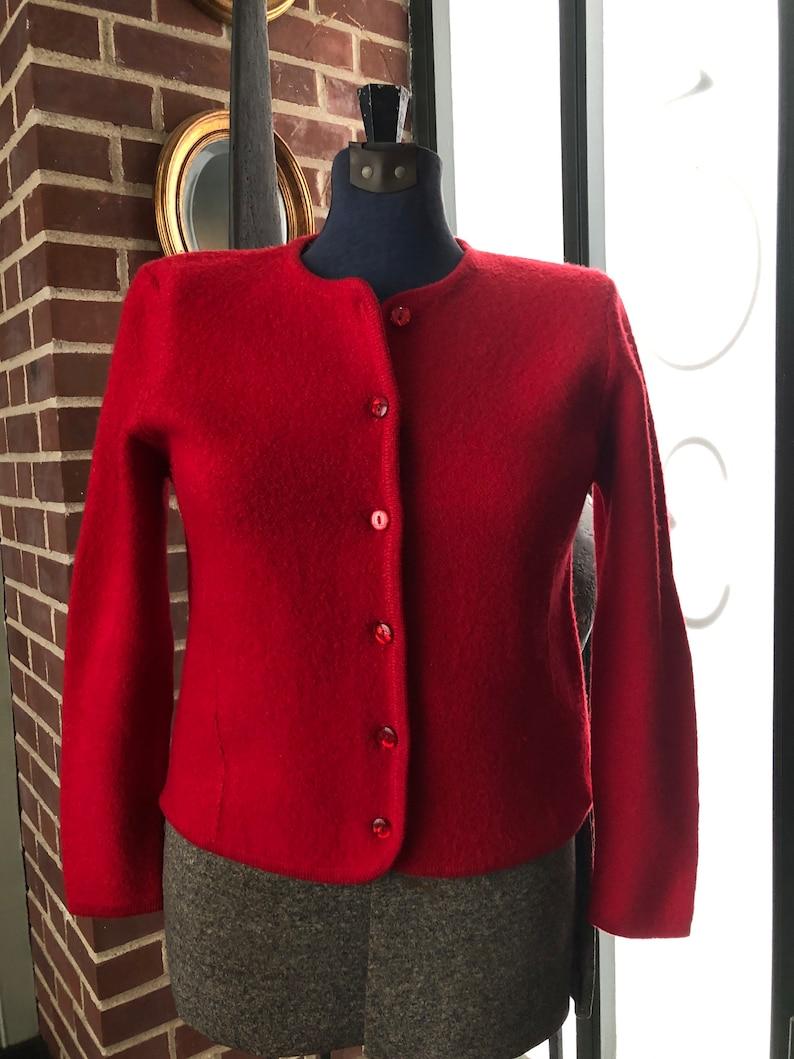 Vintage 1990s Pendleton boiled wool red cardigan size SM
