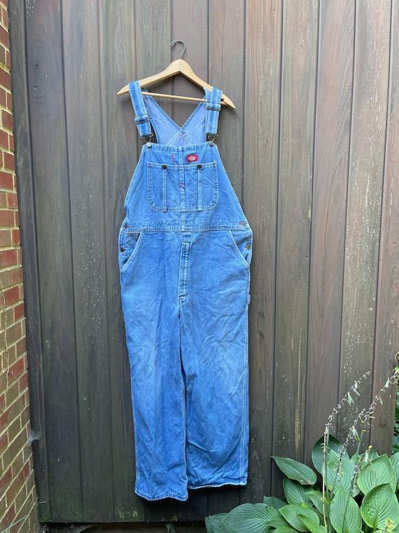 Vintage Dickies denim overalls.  Size medium/larg… - image 1