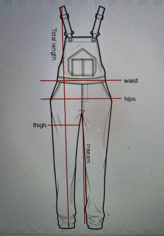 Vintage Dickies denim overalls.  Size medium/larg… - image 5