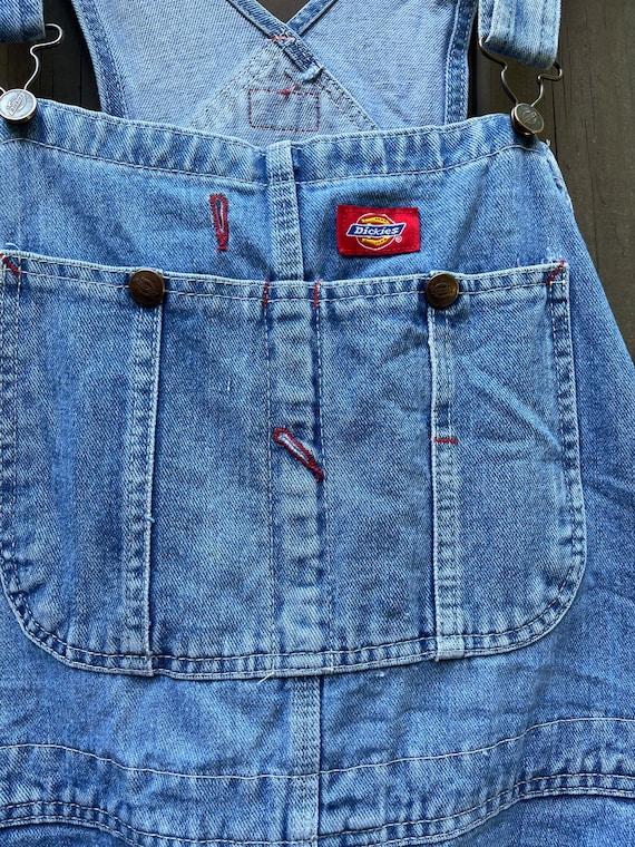 Vintage Dickies denim overalls.  Size medium/larg… - image 4