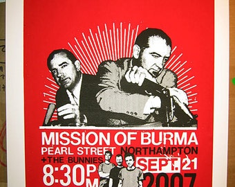 Mission Of Burma - screenprinted rock poster