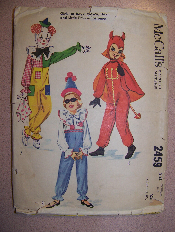 Vintage Childrenu0027s Halloween Costume Pattern | Etsy