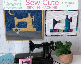 Sew Cute Appliqué Set || 4 Size Options Included || All Designs Include SVG Files