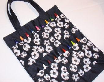 Soccer Crayon Tote Bag