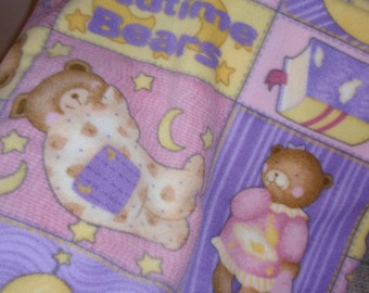 Teddy  Bear Baby Blanket in Pink